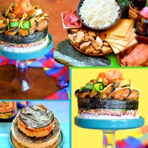 Нори - Суши-торт с мидиями