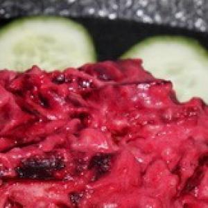 Рецепты гарниров - Свекла в сметане