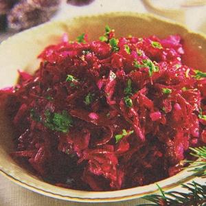 Свекольный салат со свининой