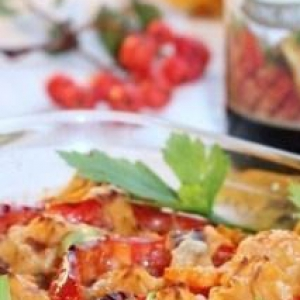 Кабачок - Свинина с овощами Оранжевое блюдо