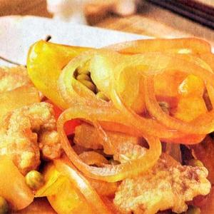 Овощные рецепты - Свинина в кисло сладком соусе