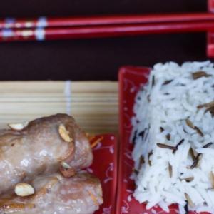 Кешью - Свиные рулетики в японском стиле