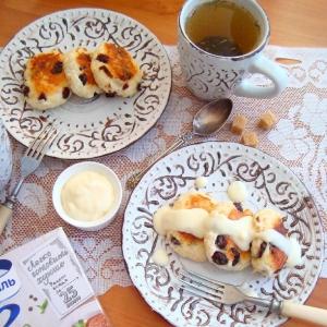 Клюква - Сырники с золотым пшеном