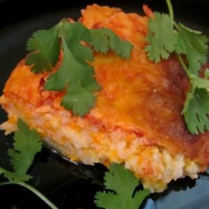 Сырно-рисовая запеканка с тыквой