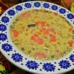 Кукуруза - Сырный суп с гречневыми хлопьями