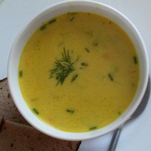 Креветки - Сырный суп с креветками