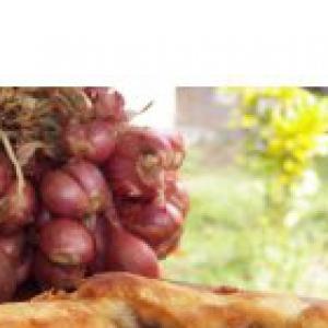 Лук-шалот - Тарт с луком-шалот на пивном тесте