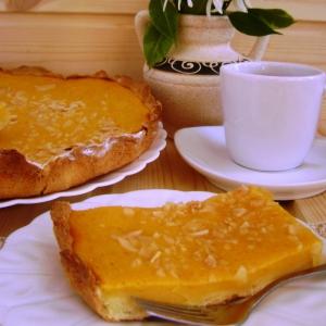 Миндаль - Тарт с тыквенным кремом «Солнышко»