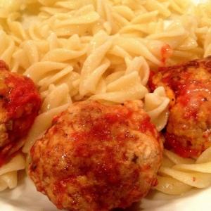 Фарш из мяса птицы - Тефтели из индейки в томатном соусе с сыром моцарелла