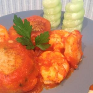 Рецепты испанской кухни - Тефтели из трески с креветочным соусом