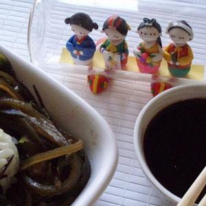 Рецепты корейской кухни - Теплый салат «Гнездо чайки»