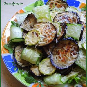 Йогурт - Тёплый салат-гриль с баклажанами