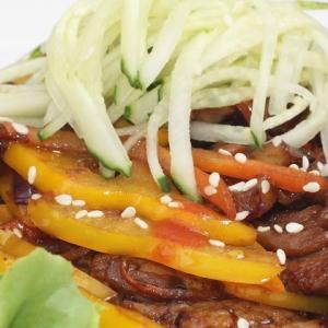 Гранат - Теплый салат из говядины