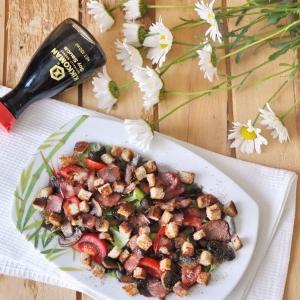 Тмин - Теплый салат с беконом и шампиньонами