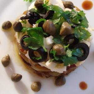 Теплые салаты - Тёплый салат с обжаренным болгарским перцем