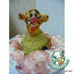 Мороженое - Тигроeлка и розовый снег
