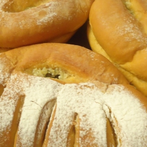 Пользователи - Томатный хлеб с чесноком, сыром и зеленью