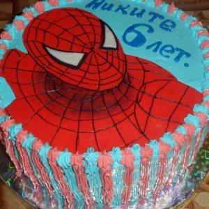 Персик - Торт Человек паук
