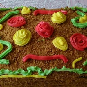 Арахис - Торт Медовик с заварным кремом на желтках