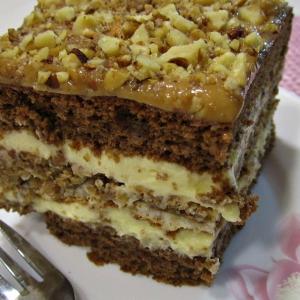 Ваниль - Торт с орехами и карамелью