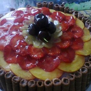 Черешня - Торт шоколадно-фруктовый с халвой