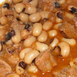 Острые блюда - Тушеное мясо с фасолью