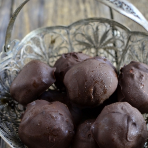 Клубника - Творог в шоколаде