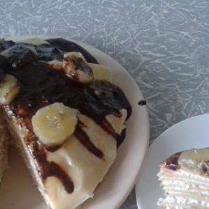 Банан - Творожно-блинный торт