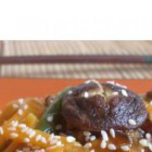 Шиитак - Тыква Ши в кисло-сладком соусе