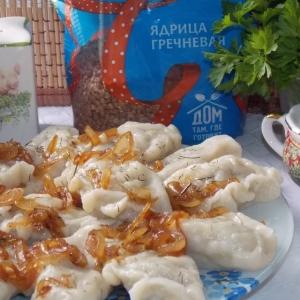 Рецепты из круп - Ушки с гречкой и грибами