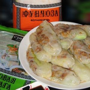 Рецепты вьетнамской кухни - Вьетнамские блинчики с мясным фаршем и стеклянной лапшой или Спинг-роллы А-ля Рюс