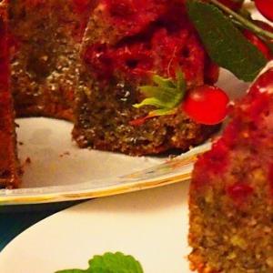 Миндаль - Вишневый кекс с маком