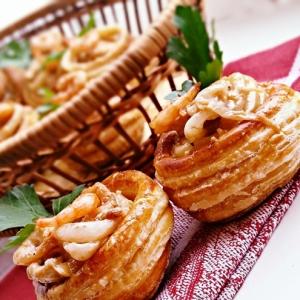 Креветки - Волованы с морепродуктами