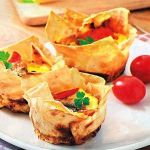 Рецепты из яиц - Яичница в корзиночках