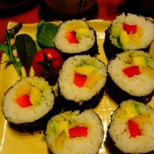 Капуста белокачанная - Японские роллы с овощами