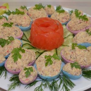 Сардина - Яйца с начинкой