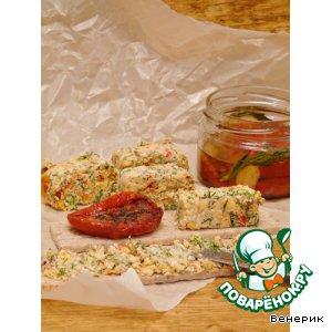 Брынза - Закуска из брынзы с вялеными томатами