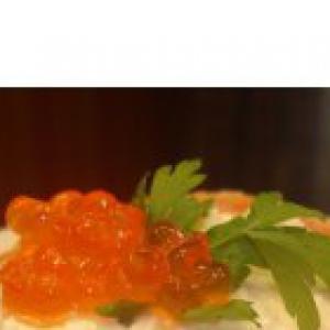 Каперсы - Закуска из форели с сыром