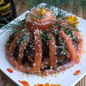 Форель - Закуска из морской капусты с форелью