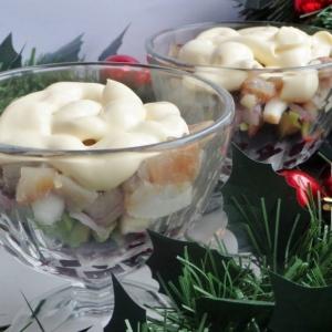 Авокадо - Закуска из свёклы, авокадо и сельди