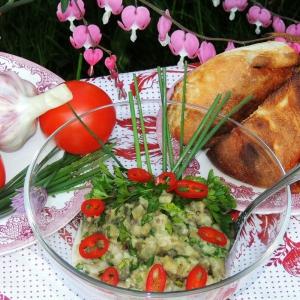 Рецепты греческой кухни - Закуска Мелидзано из печеных баклажанов