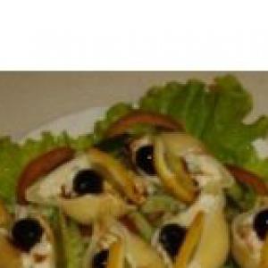 Рак - Закусочный салат «perla negra»