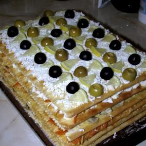 Оливки - Закусочный торт Наполеон