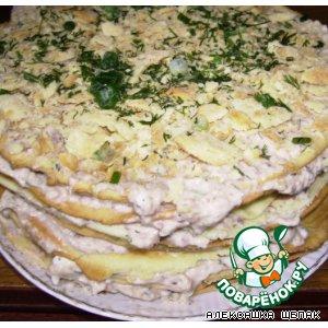 Сардина - Закусочный торт Рыбный Наполеон