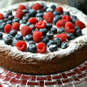 Малина - Заливной пирог с ягодами