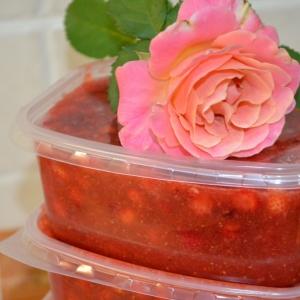 Земляника - Заморозка сладкого соуса из ягод