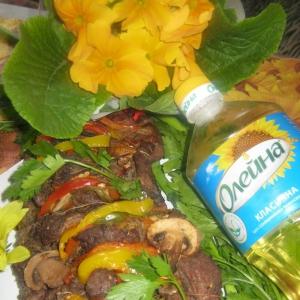 Телятина - Запечённое мясо Весеннее