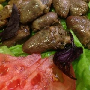 Острые блюда - Запеченные куриные сердечки