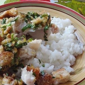 Тушеная рыба - Запеченный хек с ароматными сухариками
