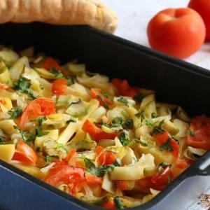 Авокадо - Запеченный картофель с овощами Буйство красок